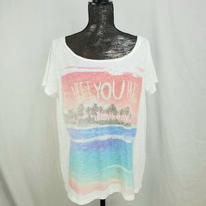American Eagle I'll Meet You There Beach Tee